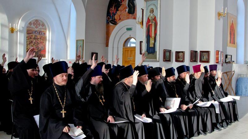 В кафедральном соборе прошло итоговое Епархиальное собрание